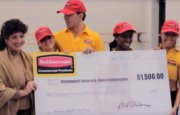 Dancers accept honorarium from Rubbermaid